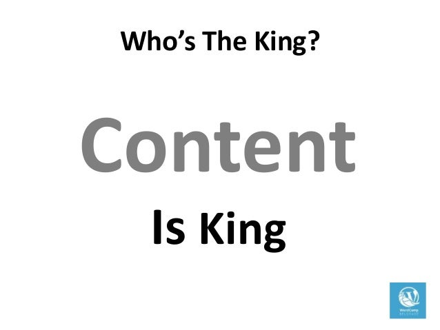 Content Is King; 34.