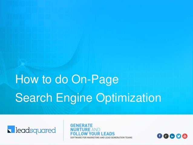 How to do On-Page Search Engine Optimization