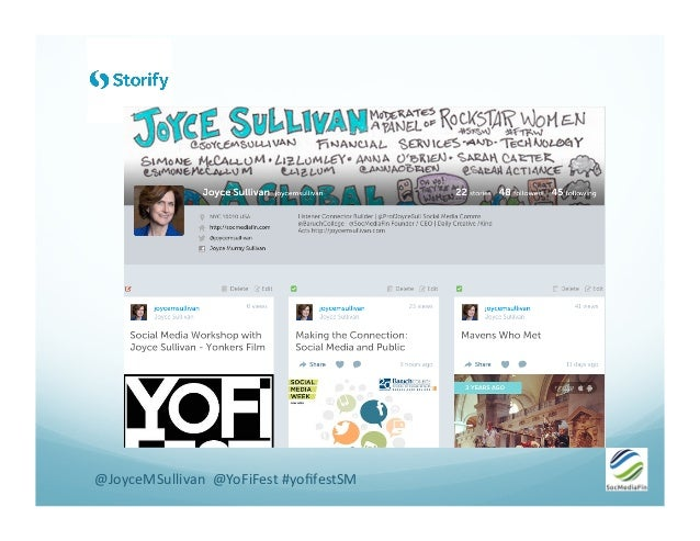 @JoyceMSullivan    @YoFiFest  #yofifestSM