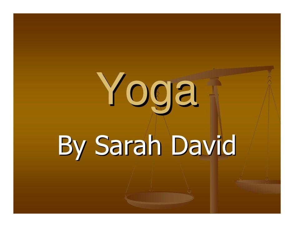 Yoga By Sarah David