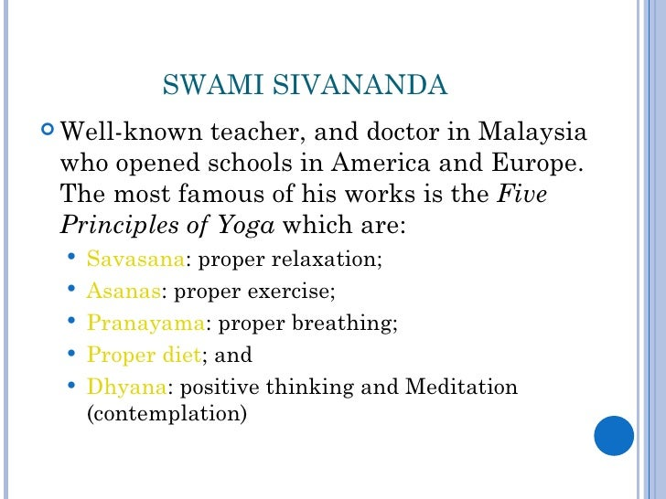 5 yoga principles