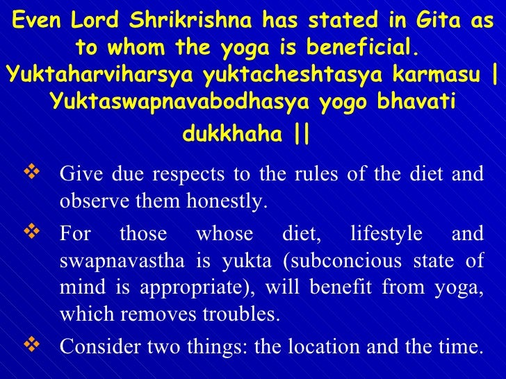 <ul><li>Give due respects to the rules of the diet and observe them honestly.  </li></ul><ul><li>For those whose diet, lif...
