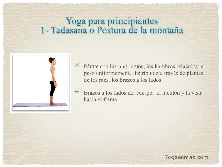 9 Posiciones de yoga para principiantes Slide 2