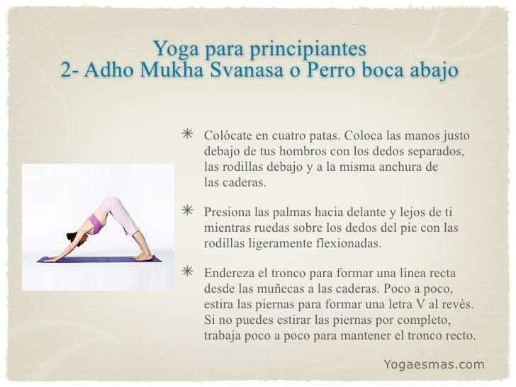 9 Posiciones de yoga para principiantes Slide 3