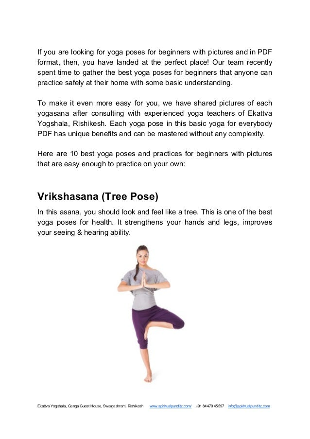 Yoga for Beginners with Pictures, Poses, & Benefits PDF