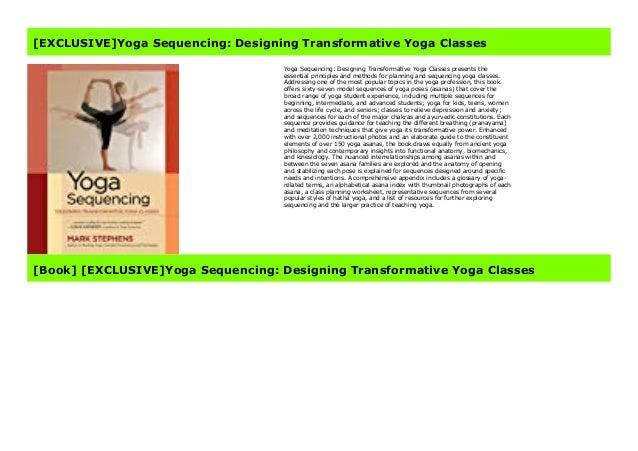 Popular Yoga Sequencing Designing Transformative Yoga Classes