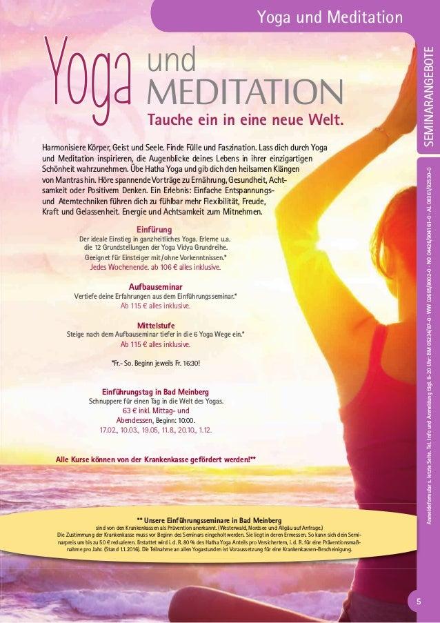 Yoga Vidya Katalog Alle Seminare 2019