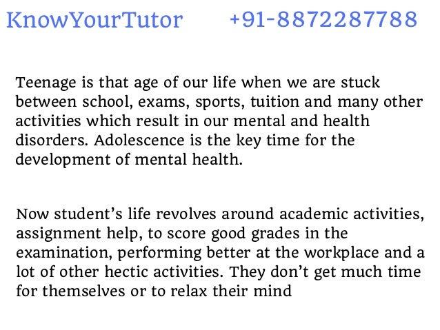 importance of teenage life