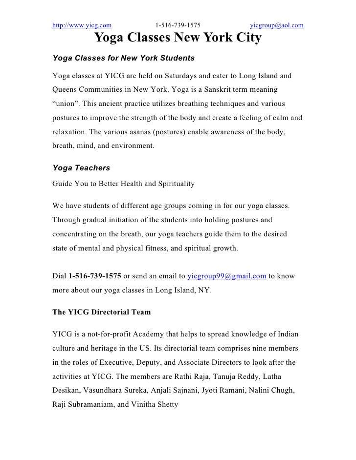 Yoga Classes New York City