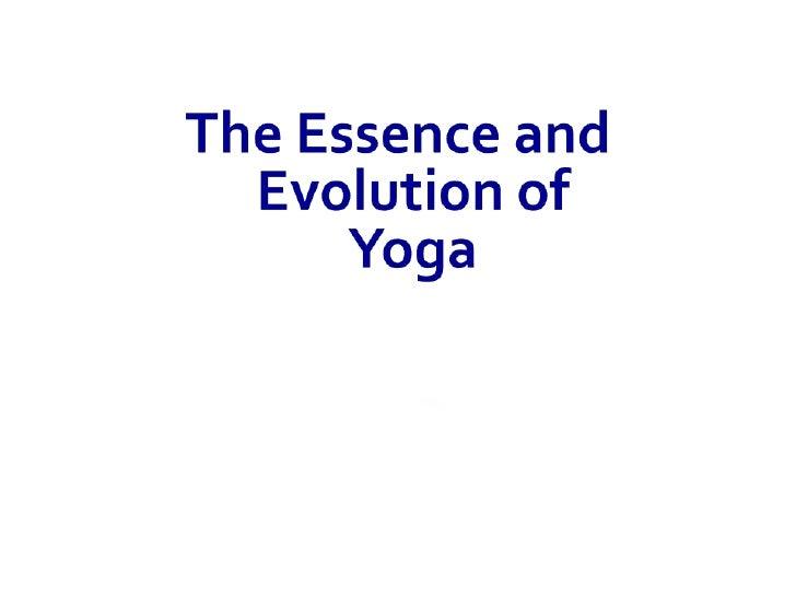 Yoga  Essence 1