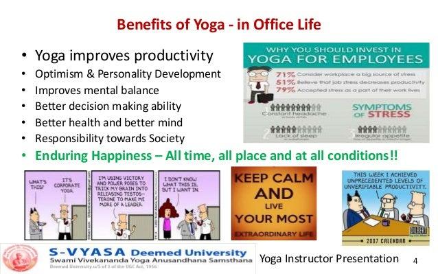 Yoga Instructor Presentation 4 Benefits