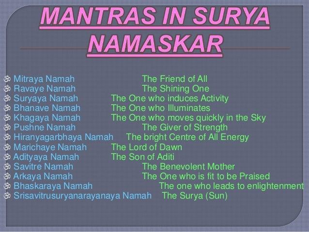 PRANAYAMA AND SURYA NAMASKAR