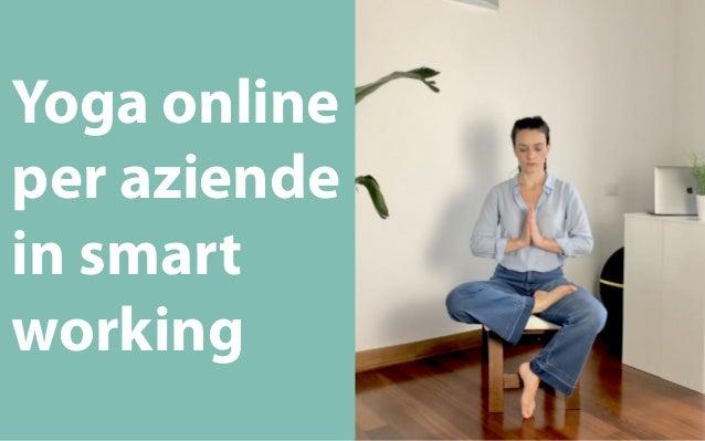 Yoga online per aziende in smart working