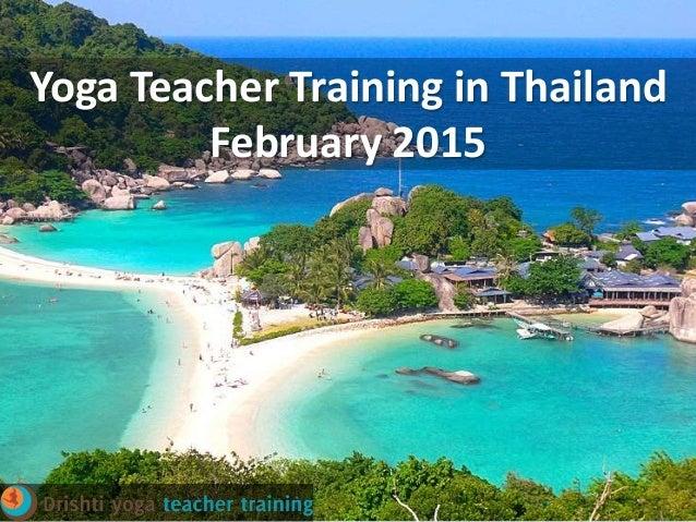 Yoga Teacher Training In Thailand 2015