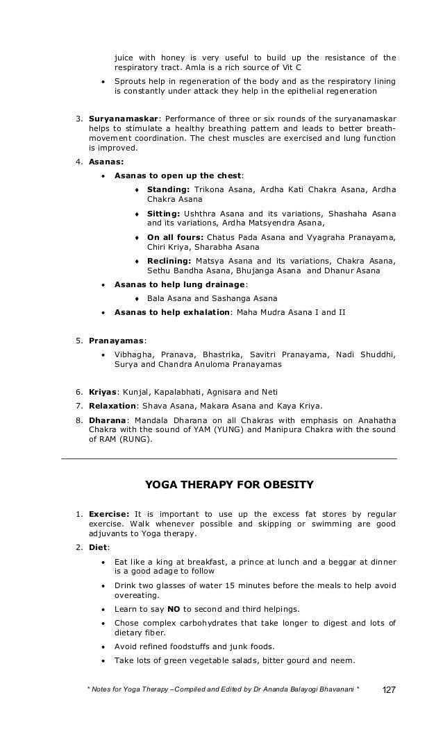 Yoga Therapy Notes
