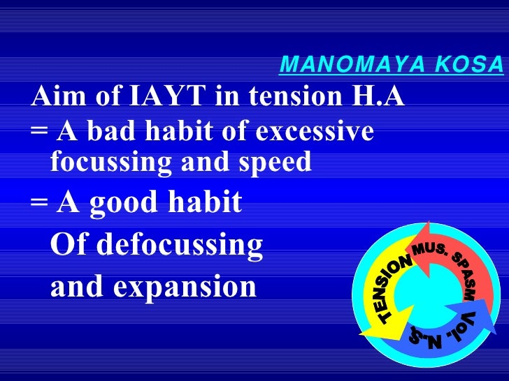 <ul><li>= A bad habit of excessive focussing and speed </li></ul><ul><li>=  A good habit </li></ul><ul><li>Of defocussing ...