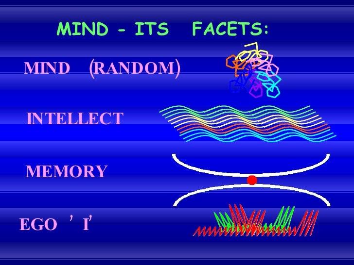 MIND - ITS  FACETS: MIND  (RANDOM) INTELLECT MEMORY EGO  'I'