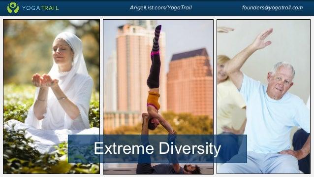 AngelList.com/YogaTrail founders@yogatrail.com  Extreme Diversity