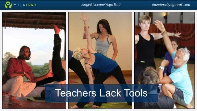 AngelList.com/YogaTrail founders@yogatrail.com  Teachers Lack Tools