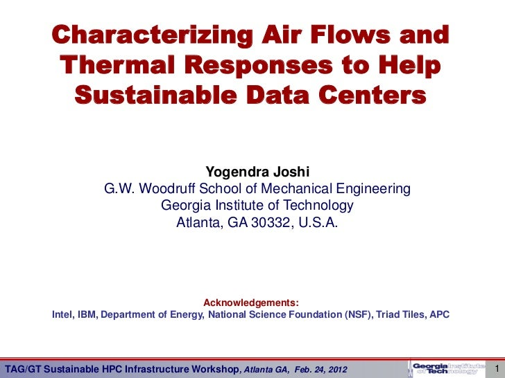 Characterizing Air Flows and         Thermal Responses to Help          Sustainable Data Centers                          ...