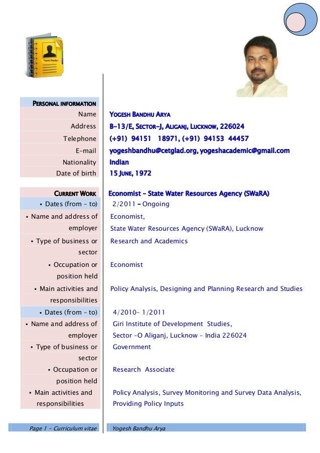 Yogesh Bandhu CV Europass