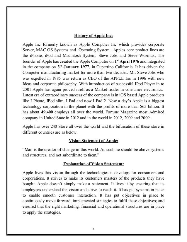 literature review on apple inc pdf