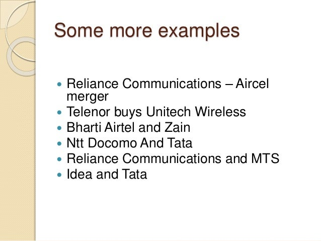 mergers and acquisitions in telecom sector 7 foreign investment in telecom sector in india 21 8 mergers and acquisitions in the indian telecom sector 24 9 security issues in the telecom industry 29.