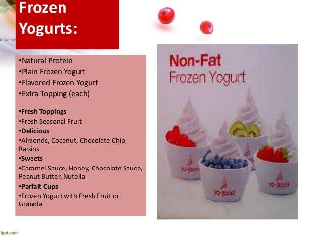 yo good frozen yogurt franchise plan, Presentation templates