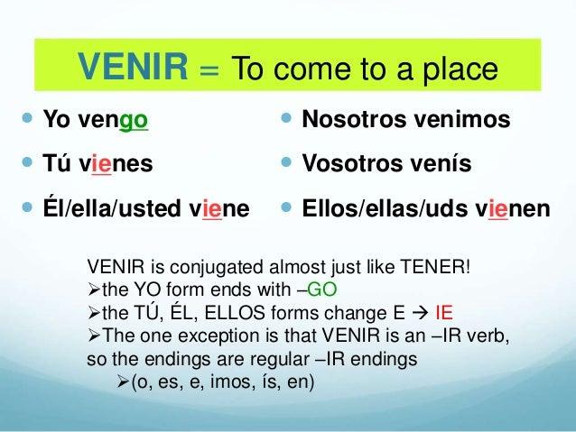 Yo go verbs