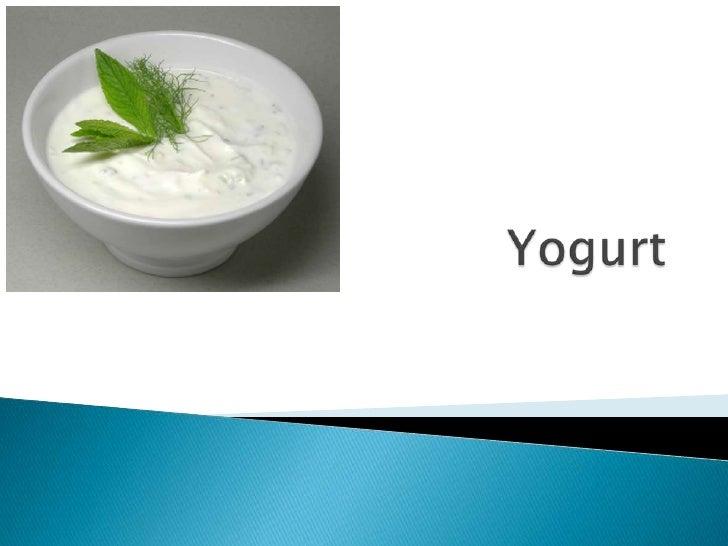 Yogurt<br />