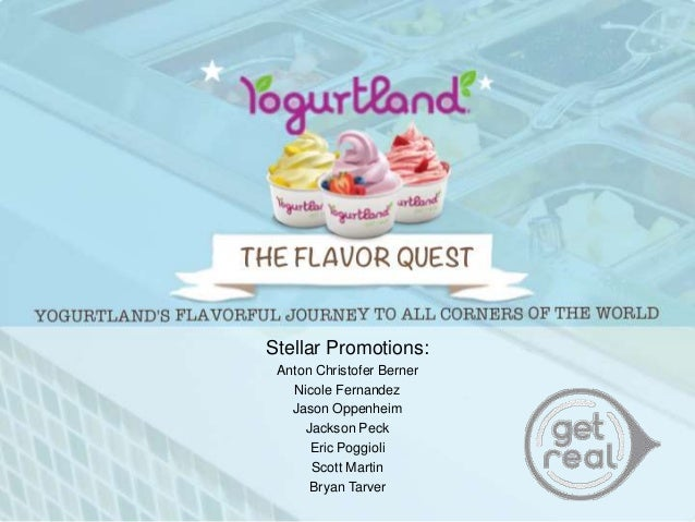 yogurt land marketing plan Sample business plan: yogurt land shopease a s marketing strategy yogurt land will use multiple methods to approach its target markets clarity of signage.
