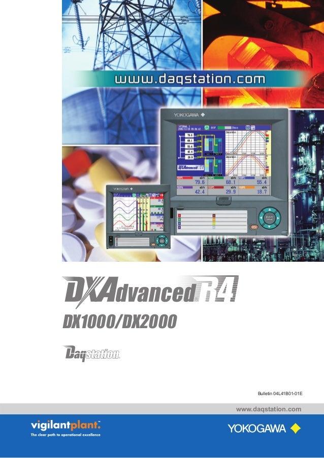 www.daqstation.com Bulletin 04L41B01-01E DX1000/DX2000