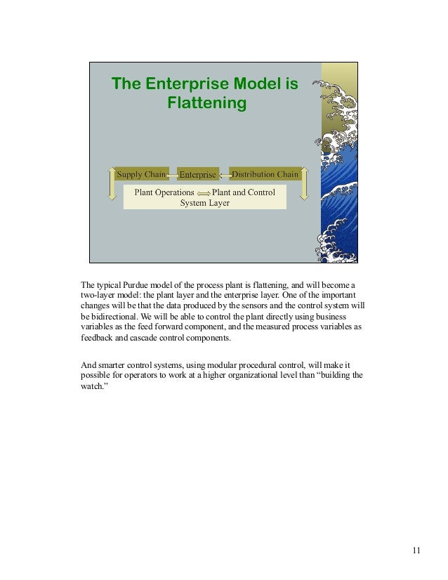 The typical Purdue model of the process plant is flattening, and will become a  two-layer model: the plant layer and the e...