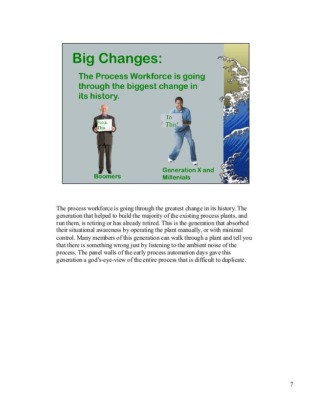 The process workforce is going through the greatest change in its history. The  generation that helped to build the majori...