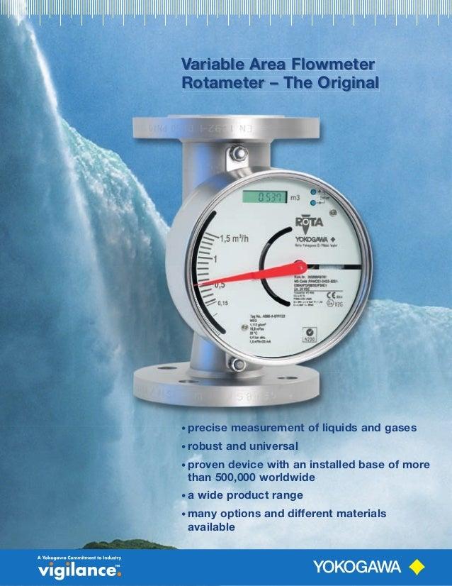 Variable Area FlowmeterVariable Area FlowmeterV Rotameter – The Original Variable Area Flowmeter Rotameter – The Original ...