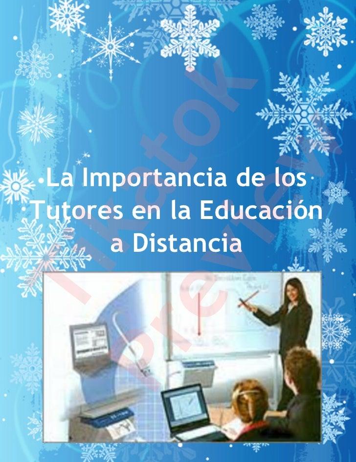 k         to         w La Importancia de los     ka      ieTutores en la Educación      a Distancia   evTiPr