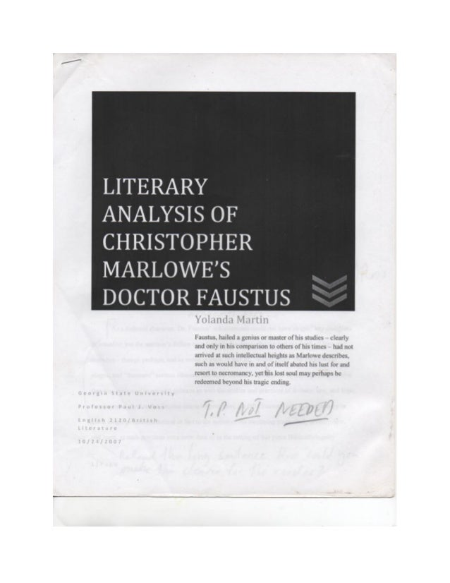 doctor faustus literary analysis