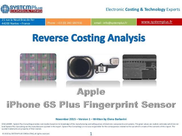uk availability 0481a 3d32c iPhone 6s Plus Fingerprint Sensor New Design & Package 2015 teardown …