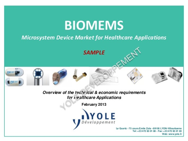 BIOMEMSMicrosystem Device Market for Healthcare Applications                          SAMPLE       Overview of the technic...