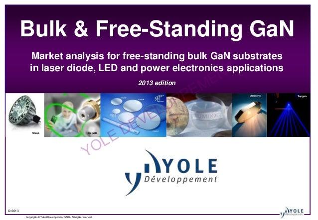 Free Standing Amp Bulk Gan Substrates For Laser Diode Led