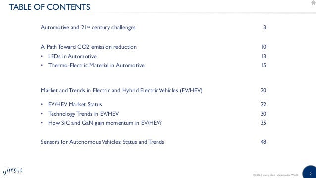 What does the future of automotive market hold? 2016 Presentation Yole Developpement at CAR-ELE Japan Tokyo Slide 2