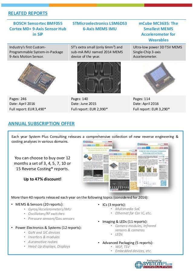 Invensense Icm 30630 Tri Core 6 Axis Sensor Hub 2016