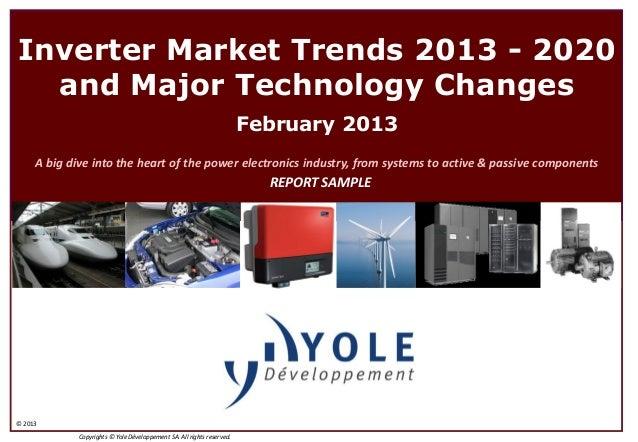 Inverter Market Trends 2013 - 2020  and Major Technology Changes                                                          ...