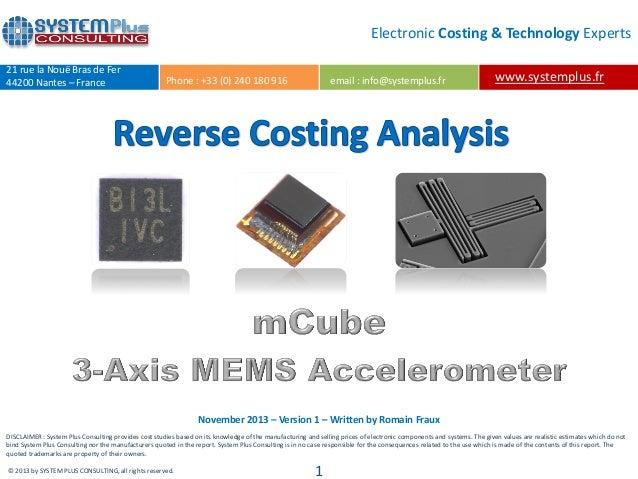 mCube Single-Chip 3-Axis Accelerometer teardown reverse