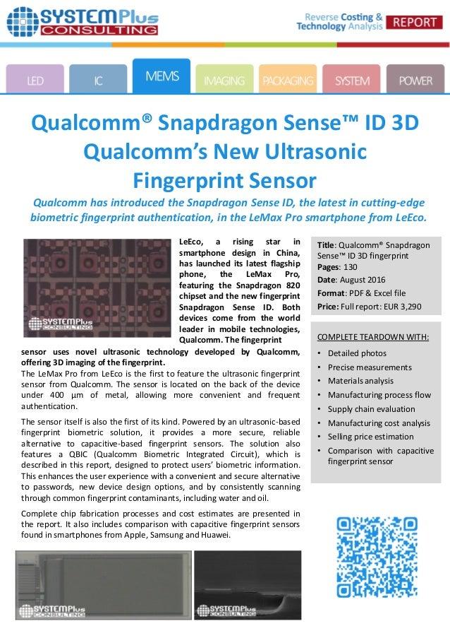 Qualcomm Snapdragon Sense ID 3D Qualcomm's New Ultrasonic