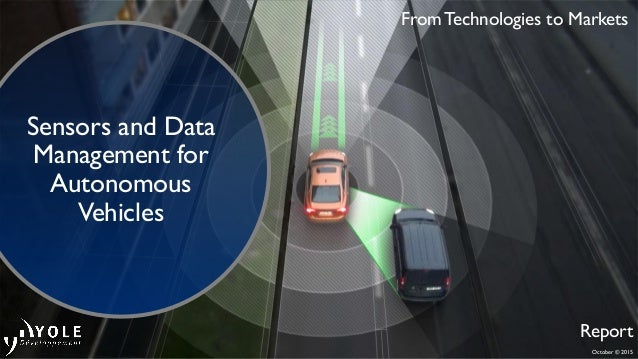 October © 2015 From Technologies to Markets Report Sensors and Data Management for Autonomous Vehicles
