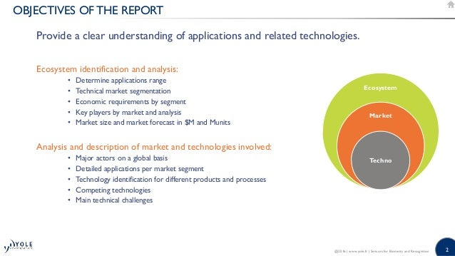 Sensors for Biometry and Recognition - 2016 Report by Yole Developpement Slide 2