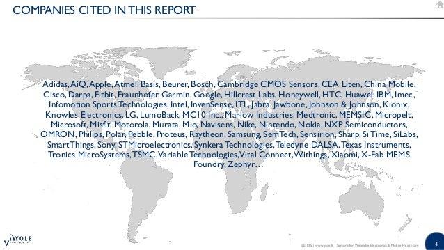 4 Adidas,AiQ,Apple,Atmel, Basis, Beurer, Bosch, Cambridge CMOS Sensors, CEA Liten, China Mobile, Cisco, Darpa, Fitbit, Fra...