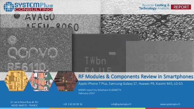 ©2017 System Plus Consulting | RF Modules & Components Review in Smartphones 1 21 rue la Noue Bras de Fer 44200 NANTES - F...