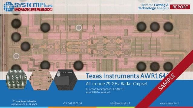 AWR1642 77 & 79 GHz RFCMOS Radar Chipset from Texas